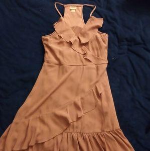 Women's Medium Dress Midi Mossimo Pink Halter